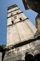 Montenegro, Kotor Bay, Perast  Tower of St Nicholas Church