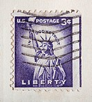 Statue of Liberty stamp, 1954, USA