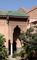 Saadian Tombs, Marrakech, Morocco, Africa