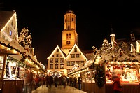 Christmas market in Biberach an der Riss, Biberach district, Upper Swabia, Baden-Wuerttemberg, Germany, Europe