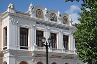 Teatro Tomas Terry in Parque Jose Marti, historic district, Cienfuegos, Cuba, Caribbean, Central America