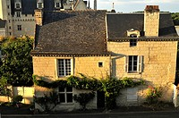 France, Maine et Loire, Montsoreau village on the UNESCO World heritage list