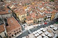 Italy, Verona, Erbe square.