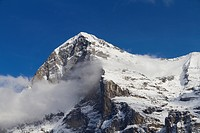 Eiger mountain, north face, Grindelwald, Bernese Oberland region, canton of Bern, Switzerland, Europe