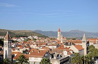 View over the town, old town, Trogir, Croatia, Europe
