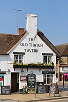 The Old Thatch Tavern, Rother Street, Stratford_upon_Avon, Warwickshire, England, United Kingdom, Europe