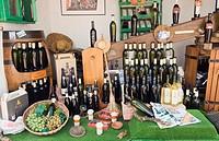 Wine sale on the market, El Mercadillo in Marina Rubicon, Playa Blanca, Lanzarote, Canary Islands, Spain, Europe