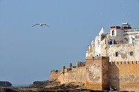 Sqala de la Kasbah, fortifications of the historic town of Essaouria, Mogador, Unesco World Heritatge Site, Morocco, Africa