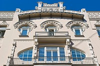 Apartment building by Mihails Eizensteins, Art Noveau, Alberta iela, Albert Street, Art Nouveau District, Riga, Latvia, Northern Europe