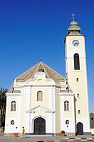 Protestant church in Bavarian style, architecture from the German colonial period, Swakopmund, Erongo region, Namibia, Africa