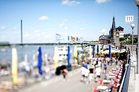 Rhine promenade, Duesseldorf, North Rhine-Westphalia, Germany, Europe
