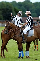 Two referees in conversation, Cesar Ruiz_Guiñazu, left, Mickey Keuper, right, polo, polo player, polo tournament, Berenberg High Goal Trophy 2009, Tha...