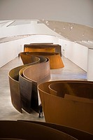 Art Installation ´The matter of time´ by artist Richard Serra at Guggenheim Museum, Bilbao, Basque country, Spain, Europe