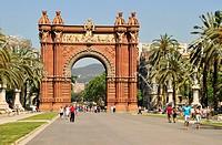 Arc de Triomf, triumphal arch, Barcelona, Spain, Iberian Peninsula, Europe