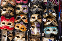 Some of the many masks on sale in Venice, Veneto, Italy