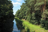 Cock moor canal, nature reserve, Hahlener moor, Hahnenmoor, Menslage, Artland, Lower Saxony, Germany, Europe, river, flow