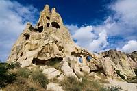 Rock church in the open air museum, UNESCO World Heritage Site, Goreme, Cappadocia, central Anatolia, Turkey, Asia