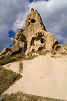 Rock church in the open air museum, UNESCO World Heritage Site, Goreme, Cappadocia, central Anatolia, Turkey, Asia