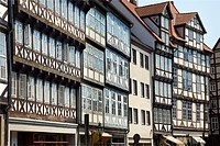 Historic centre, timber frame houses, Burgstrasse, Hannover, Lower Saxony, Germany, Europe