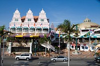 Colorful Dutch_influenced architecture, Oranjestad, Aruba, Dutch Caribbean