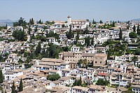 View at the town of Granada, Andalucia, Spain, Europe