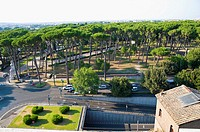 Villa Borghese seen from above Rome Italy