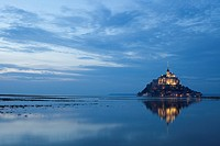 Mont Saint Michel Abbey. Normandy. France
