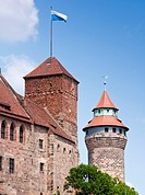 Kaiserburg Castle in Nuremberg, Bavaria, Germany