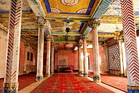 Grand hall, Juna Mahal, Dungarpur, Rajasthan, India, Asia