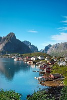 Reine village, Moskenesoya, Lofoten Islands, North Norway, Norway
