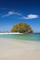 Sandy beach, Koh Tub Island, Andaman Sea, Krabi, Thailand, Asia