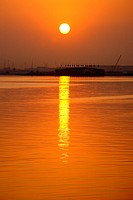 Dubai Creek at sunrise, Dubai, UAE, United Arab Emirates, Middle East, Asia