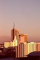 High rise buildings in the evening light, Cape Town, South Africa, Africa