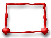 Red Love Frame
