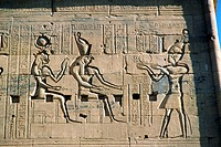 Egypt, Aswan, Temple of Philae, 2nd Pylon,