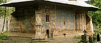 Romania, Bucovina, Voronet Monastery,