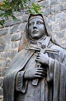 Santa Teresa de los Andes, statue, saint, nun, Church of Cerro de San Cristobal, Santiago de Chile, Chile, South America