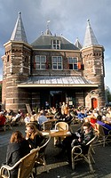Netherlands, Amsterdam, In de Waag restaurant, people,
