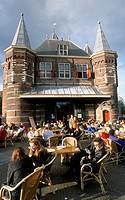 Netherlands, Amsterdam, In de Waag restaurant, people,