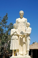 Monument, Gabriela Mistral, writer, Nobel laureate, school children, statue, Monte Grande, village, home, Vicuna, Valle d´Elqui, Elqui Valley, La Sere...