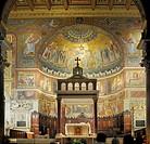 Apse mosaic in Santa Maria, Trastevere, Rome, Italy, Europe