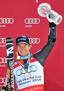Ted Ligety, award ceremony, FIS World Cup Final, 2010, Garmisch-Partenkirchen, Bavaria, Germany, Europe