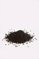 Indian spice , Nigella Black Onion Seeds Kalonji Nigella sativa on white background