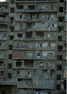 One house destroyed by a war in Beirut of the capital of Lebanon in the Middle East in Arabia.