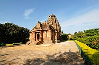 Raja Rani temple of red_gold sandstone , Bhubaneswar , Orissa , India