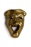 Golden color Laughing Mask