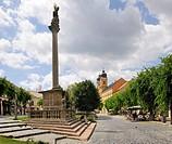 Main square, Trencin, Slovakia, Europe
