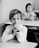 Children at their first day of school, East Germany, DDR about 1984