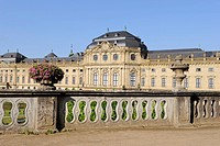 Wuerzburg Residenz, Wuerzburg, Lower Franconia, Bavaria, Germany, Europe
