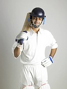 Indian batsman ready for cricket match MR702A